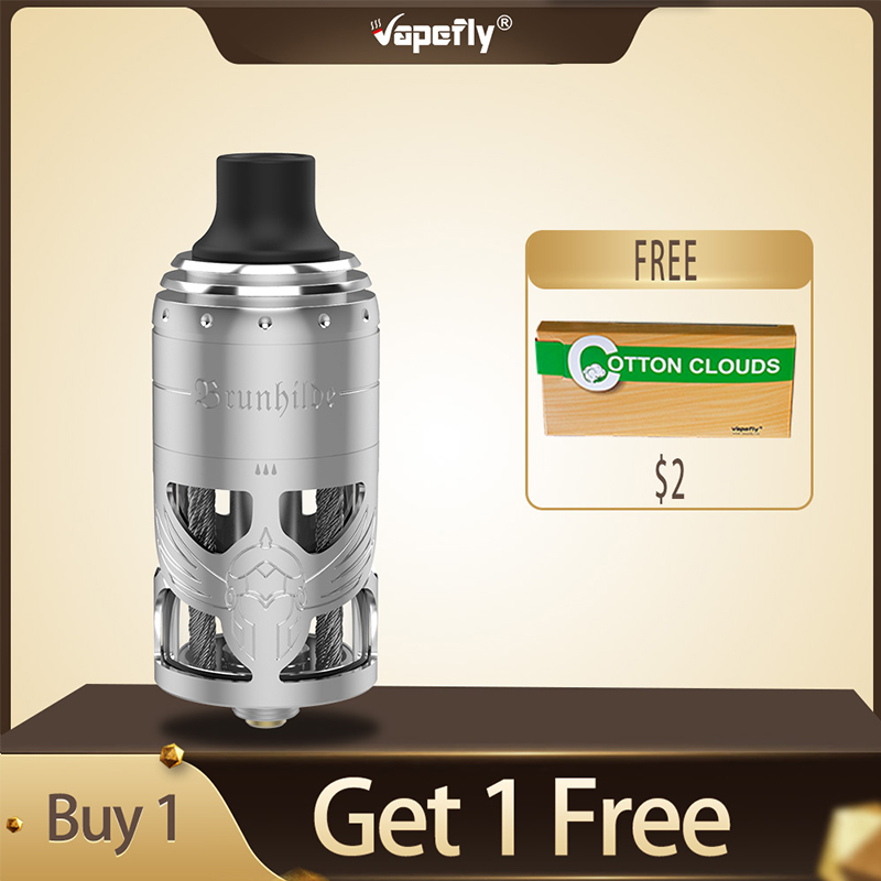 New Original Vapefly Brunhilde MTL RTA Tank 5ml Atomizer Single Coil Building 6 Levels Airflow Control Vape Vaporizer Vs Zeus X