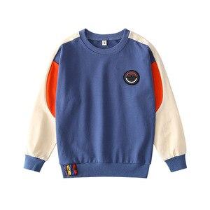 Image 5 - Teenager Jungen T Shirt 2019 Herbst Frühling Marke Kinder Voll Hemd Casual Langarm Sweatshirt Kinder Kleidung Bluse Tops H212
