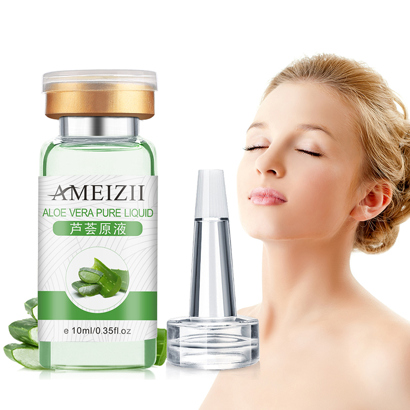 1 Pc Aloe Vera Pure Hyaluronic Acid Essence Moisturizer Moist Oil Control Face Serum Anti Wrinkle Liquid Face Care Tool TSLM2