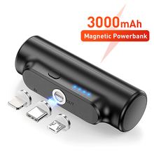 Mini Magnetic Power Bank For iPhone 12 3000mAh Magnet Charger Power Bank For Xiaomi Emergency Portable Magnetic External Battery