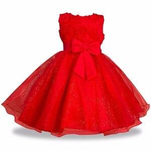 Świąteczne sukienki dla dziewczynek na wieczorny bal kostium imprezowy nastoletnie dziewczyny ubrania dla dzieci ślub suknia urodzinowa mała dziewczynka czerwona suknia