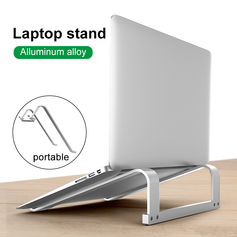 11-17 Inch Aluminum Alloy Laptop Stand Folding Notebook Stand For Macbook Air Pro Lapdesk Non-slip Computer Cooling Bracket