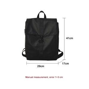 Image 4 - ファッション女性バックパッククールオックスフォード布ユニセックス高品質bagpackシンプルなバッグ防水毎日バッグ頑丈なトレンド黒ゴールド