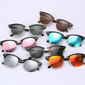 Image 5 - زجاج عدسة الكلاسيكية نظارات شمسية كلاسيكية الرجال النساء الفاخرة العلامة التجارية تصميم نظارات نظارات شمسية أنيقة ظلال gafas oculos دي سول 3016