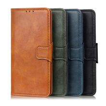 Two Color Crazy Horse Pattern wallet Leather Cover For Xiaomi Redmi K30 Pro K20 Note 8 7 Case of