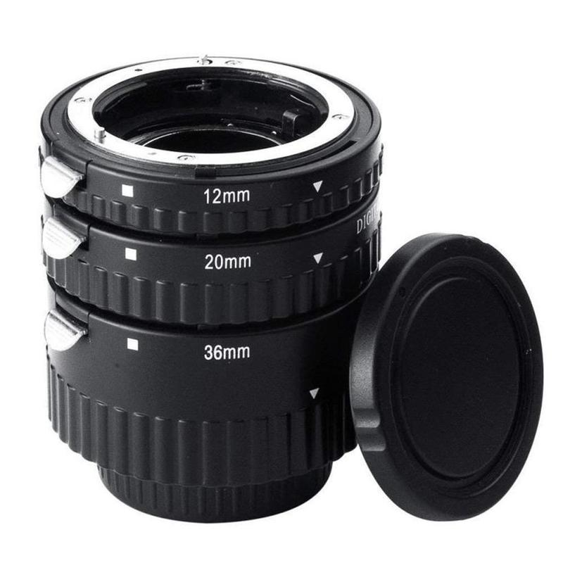 Tube d'extension Macro AF à montage automatique en métal pour Nikon D7100 D7000 D5300 D800 D750 D600 DSLR AF AF-S DX accessoires pour appareil photo