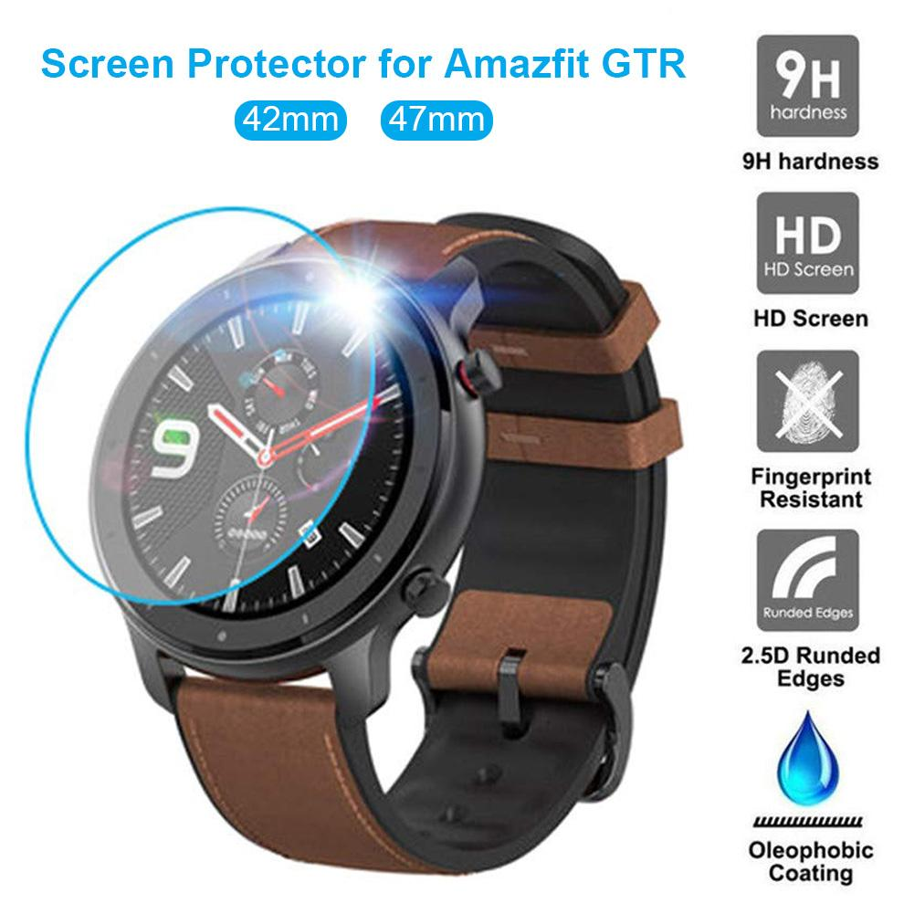 For Huami <font><b>Amazfit</b></font> GTR 42mm / 47mm Sports Smart Watch Clear Tempered Glass 9H 2.5D Premium Screen Protector <font><b>Film</b></font> image