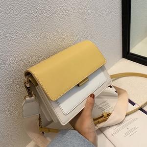 Image 4 - ミニ革のクロスボディバッグ女性 2020 グリーンチェーンショルダーバッグシンプルなバッグ女性旅行財布とハンドバッグクロスボディバッグ