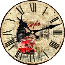 WONZOM Car Break Loose Design Wall Clock For Home Decor, Art Large Watch, No Ticking Sound, Creative Decoration