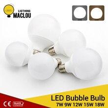 цена на LED Light Bulb 110V 220V 7W 12W 15W 18W E27 LED Lamp Warm White Ball Light Powerful Ampoule Bombillas Led Bubble Bulb Home Decor