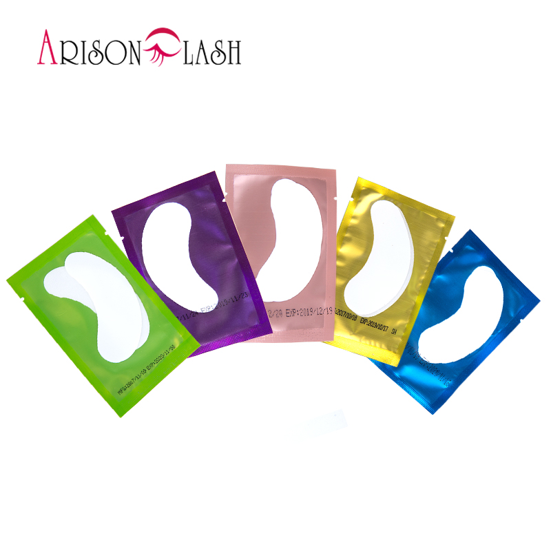 100/50/250/500 Pairs Patches For Eyelash Extension Stickers Eye Pads Paper Under Eyes Grafted Lash Stickers