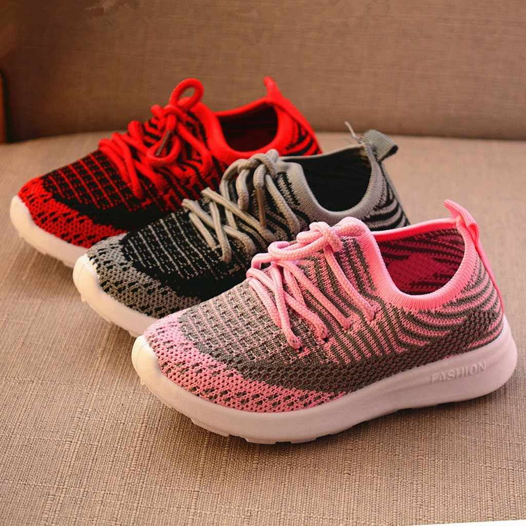 Children Infant Kids Baby Girls Boys Striped Mesh Sport Run Sneaker Casual Shoes kids shoes children shoes sneakers baby shoes