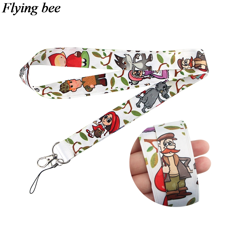Flyingbee Cartoon Lanyard Phone Rope Keychains Phone Lanyard For Keys ID Card Cartoon Lanyards For Men Women X0805
