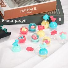32MM 10 unids/set niños muñeca máquina de Gashapon máquina cápsula Pinball máquina de juego de la máquina de dulces dibujo retorcido bolas de regalo