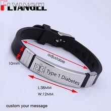 FLYANGEL Personalized Bracelet Medical Alert ID Bracelet Emergency Medical ID Urgent Bracelet Heart Disease, Diabetes Patients