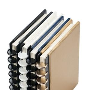 Image 2 - Fromthenon A5 버섯 Discbound 노트북 가죽 커버 8 구멍 느슨한 잎 나선형 플래너 바인딩 커버 사무실 학교 편지지