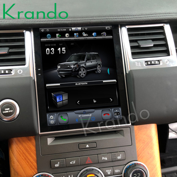 Krando Car Radio Android 9.0 4+64gb 10.4 Tesla Vertical Touch Screen Player for Range Rover 2011-2013 Gps Navigation System image