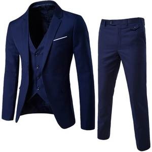 HEFLASHOR Trouser Suit Jacket Wedding-Suits Business-Dress Office Male Casual 3pc Vest