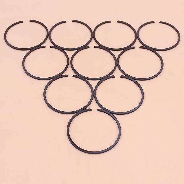 10 pcs/lot segments de Piston pour coupe gazon débroussailleuse Strimmer tronçonneuse pièce de rechange 35mm x 1.2mm