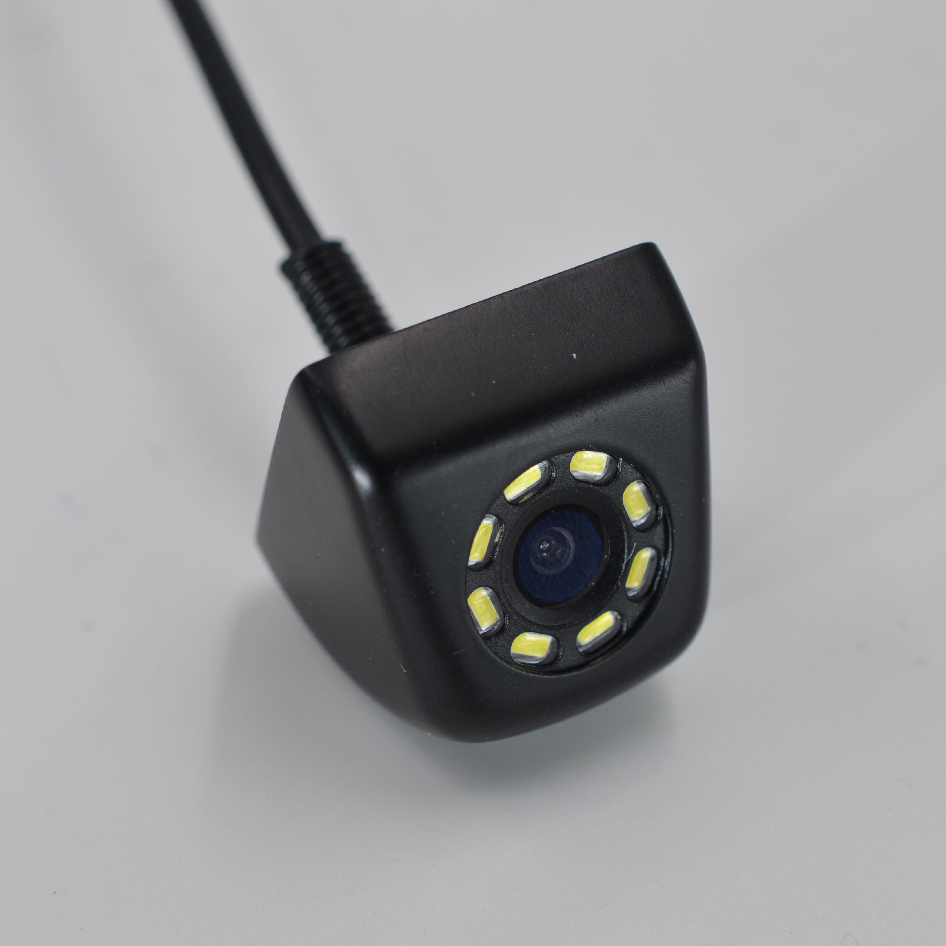 BYNCG Автомобильная камера заднего вида Универсальная 12 Светодиодный ночного видения дублирующая для парковки заднего вида камера Водонепроницаемая 170 широкоугольная HD цветное изображение - Название цвета: Зеленый