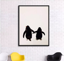 Настенная картина на холсте Черно белая декоративная с двумя