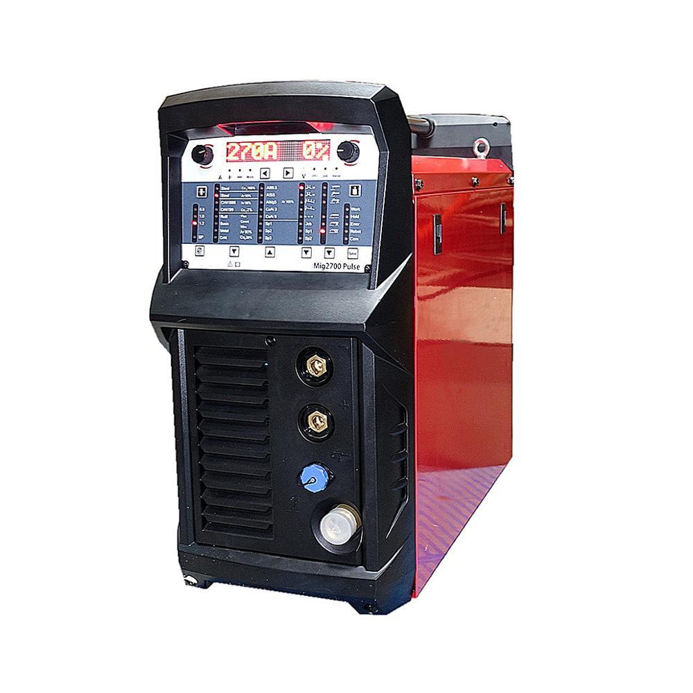 Professionelle 270A Synergic Schweißen Maschine Digitale Doppel Puls MIG TIG MMA Aluminium Schweißen Maschine
