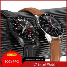 L7 ECG PPG smart watch with electrocardiograph ecg display heart rate monitor blood pressure men smart bracelet PK N58 B57 watch