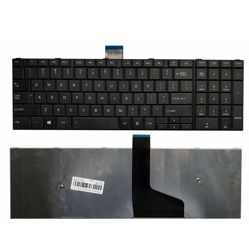 NEW US LAPTOP KEYBOARD FOR <font><b>Toshiba</b></font> <font><b>Satellite</b></font> <font><b>C55</b></font>-A C55D-A C55T-A image