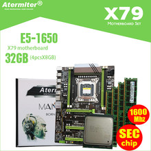 Atermiter X79 Turbo placa base LGA2011 ATX combos E5 1650 C2 (4 Uds x 8 GB), 32GB 1600Mhz PC3 12800R PCI-E NVME M.2 SSD USB3.0(China)
