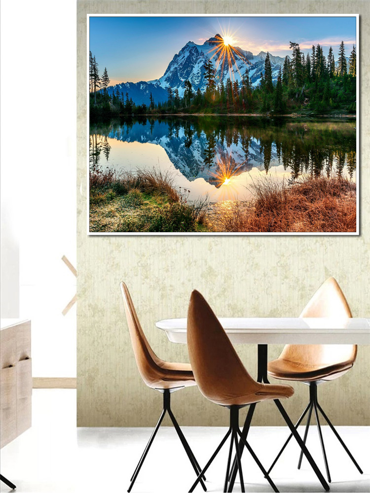 BAISITE Canvas Painting Frame Numbers Wall-Art Living-Room Home-Decor 40x50cm by