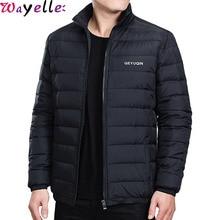 White Duck Down Jackets Men Autumn/Winter Warm Coats Young Male Windbreaker Snow Parka Outerwear Plus Size 4XL