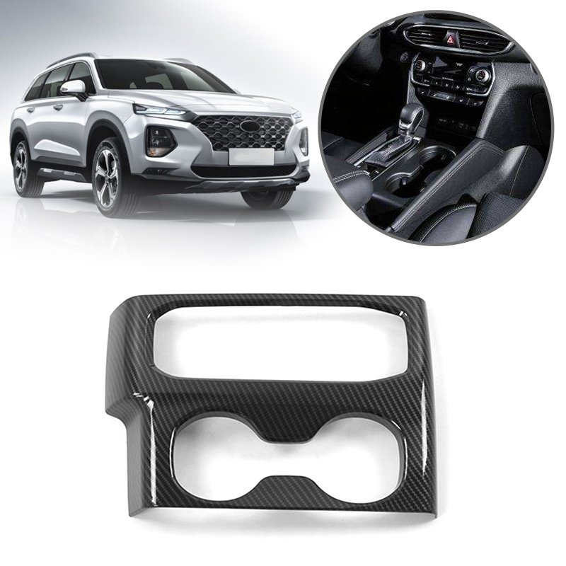 pcmos Carbon Fiber Car Interior Gear Panel Cover door Window Switch Trim For <font><b>2019</b></font> Hyundai <font><b>Santa</b></font> <font><b>Fe</b></font> Interior Mouldings Stickers image