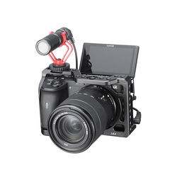 A6600 Camera Cage for Sony A6600 1/4 Thread Hole to Top Handle Monitor Mic LED Light Cold Shoe Mount Protection Cage