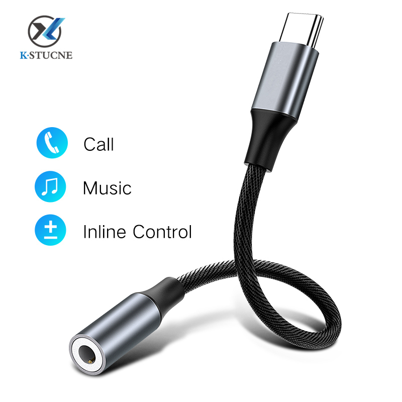 Type C To 3.5mm Aux Adapter Headphone Jack 3.5 Audio CableType C Charging Cable Jack Aux Audio Adapter For Xiaomi Huawei Samsung