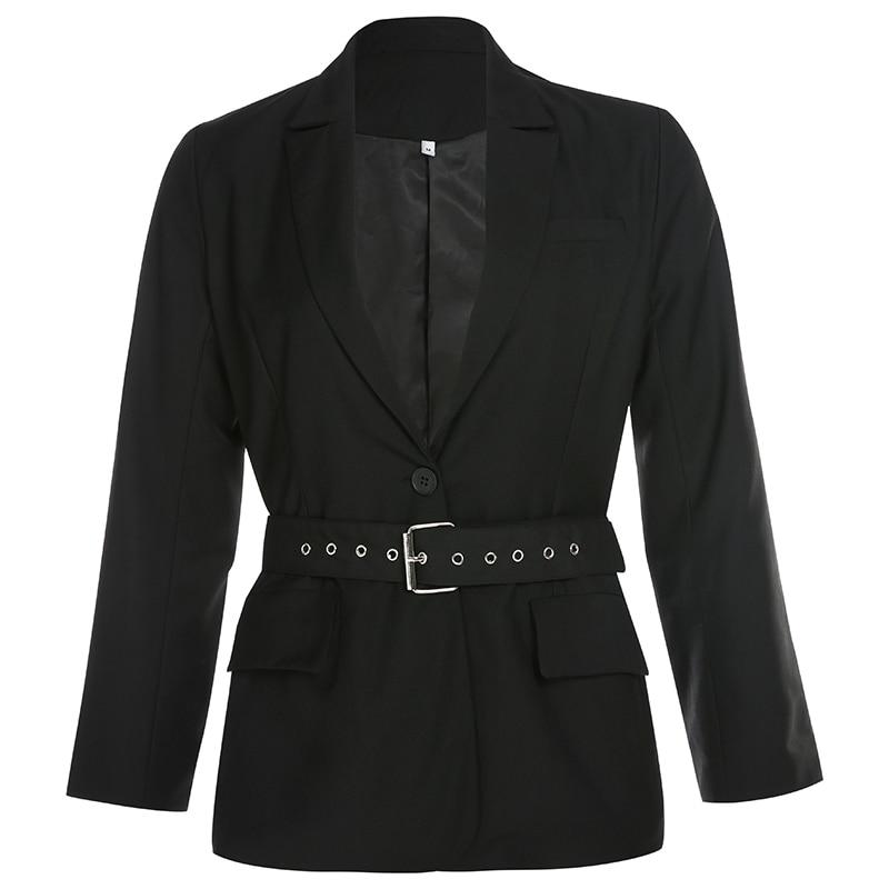 Korean Spring Oversized Long Women Tops Black Blazer With Bow Belt Harajuku Loose Fall Elegant Coat Plus Size Streetwear Outwear