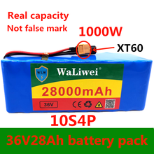 36 в 28 Ач 10S4P lэлектрическая велосипедная аккумуляторная батарея 18650 литий-ионная батарея 1000 Вт Высокая мощность 36 в мотоцикл Scoote XT60 разъем