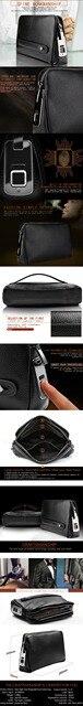Мужские сумки с отпечатками пальцев для мужчин кожаная ручная