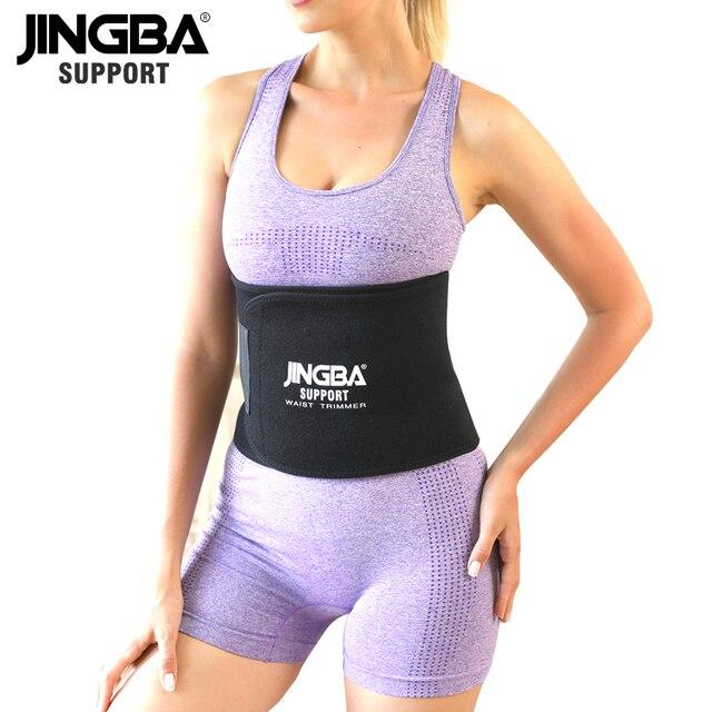 JINGBA SUPPORT Longer 130CM Unisex Neoprene Body Shaper Waist Trainer Loss Fitness Sweat belt Sauna Slimming Strap waist trimmer