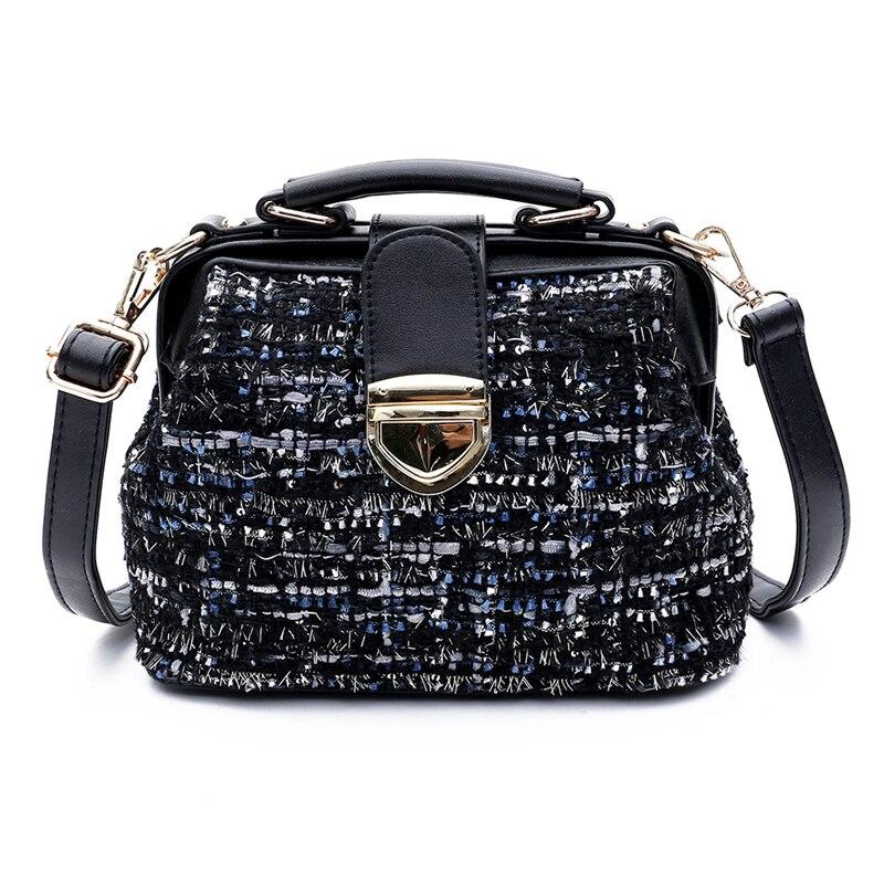 Ladies Bag High Quality Fabric Large Capacity Tote  Crossbody Black Luxury Handbag Fashion 2019