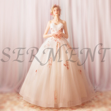 Wedding Dress 2019 New Flower Fairy Fashion Personality Fresh Girl Rose Tube Top Princess Bride Imperial