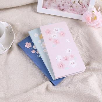 цены 2020 Sakura Weekly Planner Lovely Floral Pocket Agenda 91mm*185mm DIY Undated Month Week Plan Book 88 Sheets Free Shipping