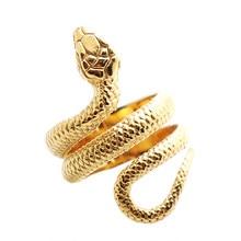 Anel de cobra clássico quente de aço inoxidável unisex 316l