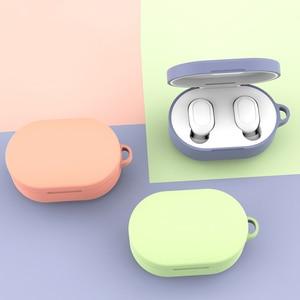 Image 4 - Custodia in Silicone Coperchio di Protezione Per Xiaomi Airdots TWS Auricolare Bluetooth Versione Giovanile Auricolare In Silicone Protettiva Caso Della Copertura