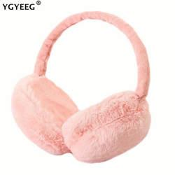 YGYEEG новые наушники для женщин Имитация меха кролика зимние теплые женские хлопковые ушные теплые рождественские подарки меховые наушники