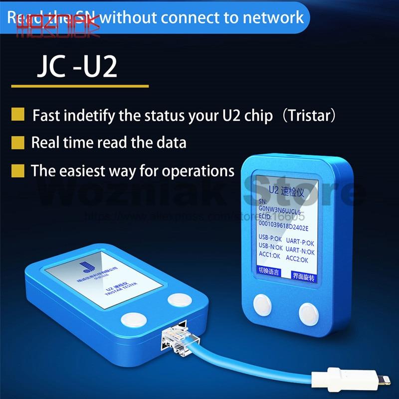 JC U2 Tristar Testeur Détecteur Rapide pour iPhone 5 6 7 8 PLUS X XS MAX U2 Charge IC Faute SN Numéro de Série Détecteur Lecteur D'essai - 3