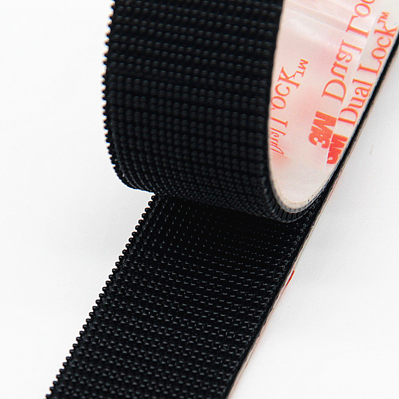 Velcros Adhesive Type 250/25.4mm Width 3M Dual Lock SJ3550 Black and SJ3560 Transparent Mushroom Adhesive Fastener Tape