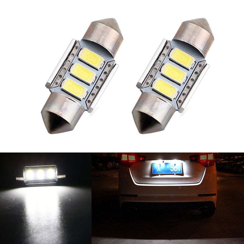 2X Car Led Error Free 36mm C5W 5630 SMD Lamp 12V License Plate Lights For <font><b>AUDI</b></font> A4 A2 A3 8L 8P B5 B6 A6 4B <font><b>A8</b></font> <font><b>D2</b></font> TT Q7 4F image