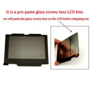 Image 5 - Ips v2 lcd kits com estojo de casca para gba sp ips lcd backlight tela com pré corte escudo para gbasp console habitação com botões