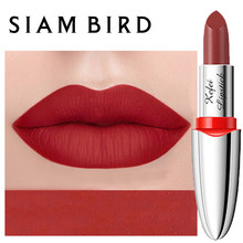 Siambird Matte Lippenstift Langdurige Voor Make-Up Red Ruby Rose Lip Sticks Waterdicht Pigment Koreaanse Cosmetica Glanzender Lipgloss(China)