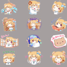 32 mini cute anime girl stickers anime funny scrapbook stickers for kids, DIY laptop suitcase skateboard motorcycle bike car toy(China)